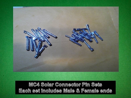MC4 Solar PV Cable Connector PINS ONLY 10 Sets - Greener World Store